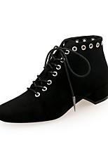 Недорогие -Жен. Fashion Boots Замша Наступила зима На каждый день Ботинки Блочная пятка Ботинки Черный / Коричневый / Винный / Для вечеринки / ужина