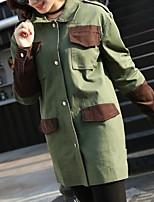 economico -Impermeabile Per donna Militare - Tinta unita
