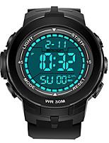 cheap -SANDA Men's Sport Watch Digital Watch Japanese Digital 30 m Water Resistant / Water Proof Calendar / date / day Stopwatch Plastic Band Digital Luxury Fashion Black - Black / Gold Black / Blue Black