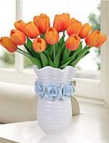 Недорогие -Искусственные Цветы 8.0 Филиал Классический / Односпальный комплект (Ш 150 x Д 200 см) Деревня / Простой стиль Тюльпаны Букеты на стол