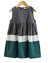 economico -Bambino Da ragazza Monocolore Senza maniche Vestito