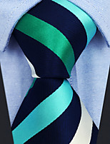 cheap -Men's Party / Work Necktie - Striped / Color Block / Jacquard