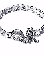 cheap -Men's Stylish / Sculpture Bracelet - Dragon Statement, Trendy, Hyperbole Bracelet Silver For Street / Bar