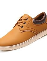 Недорогие -Муж. Комфортная обувь Полиуретан Осень Кеды Черный / Желтый / Синий