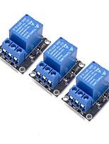 baratos -3 pcs 5 v módulo de relé para braço arduino pic avr mcu 5 v indicador de luz led 1 canal relé módulo