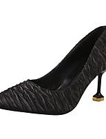 Недорогие -Жен. Полиуретан Лето Туфли лодочки Обувь на каблуках На шпильке Заостренный носок Черный / Бежевый