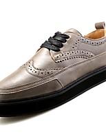 Недорогие -Муж. Полиуретан Осень Удобная обувь Кеды Белый / Черный / Серебряный
