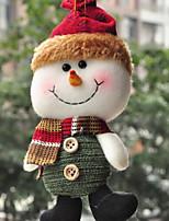 Недорогие -Рождественский декор Праздник Хлопок Квадратный Оригинальные Рождественские украшения