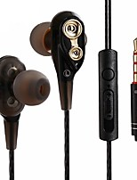 cheap -Factory OEM LXM20 In Ear Cable Headphones Earphone ABS+PC Mobile Phone Earphone with Microphone / with Volume Control Headset