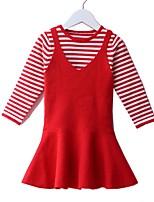 Недорогие -Дети (1-4 лет) Девочки Однотонный / Полоски Длинный рукав Набор одежды