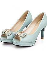Недорогие -Жен. Комфортная обувь Полиуретан Весна Обувь на каблуках На шпильке Черный / Синий / Розовый
