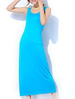 cheap -Women's U Neck Satin & Silk Pajamas Solid Colored