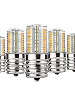 Недорогие -YWXLIGHT® 5 шт. 4 W 300 lm E17 Двухштырьковые LED лампы T 72 Светодиодные бусины SMD 4014 Диммируемая Тёплый белый / Холодный белый / Натуральный белый 110-130 V