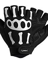 Недорогие -SPAKCT Спортивные перчатки Перчатки для велосипедистов Отражение / Учебный / Пригодно для носки Без пальцев Терилен / Нейлон / Поли уретан Велосипедный спорт / Велоспорт Муж.