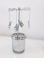 Недорогие -Европейский стиль Нержавеющая сталь Подсвечники На одну свечу 1шт, Свеча / подсвечник