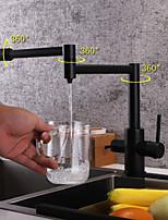 Недорогие -кухонный смеситель - Современный Живопись Стандартный Носик / Горшок Filler Настольная установка
