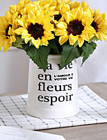 Недорогие -Искусственные Цветы 6 Филиал Классический / Односпальный комплект (Ш 150 x Д 200 см) Стиль / Пастораль Стиль Подсолнухи Букеты на стол