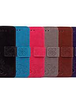 Недорогие -Кейс для Назначение Nokia Nokia 6 Бумажник для карт / Флип Чехол Однотонный / Мандала Мягкий Кожа PU для Nokia 6