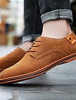 Недорогие -Муж. Официальная обувь Замша Весна & осень Туфли на шнуровке Коричневый / Красный / Синий