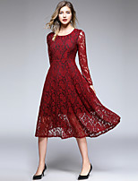 cheap -Women's Sophisticated / Elegant A Line Dress - Floral Lace