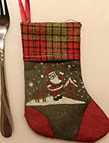 Недорогие -Чулки / Рождественские украшения Праздник Ткань Квадратный Оригинальные Рождественские украшения