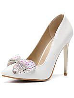 preiswerte -Damen Schuhe PU Herbst Winter Pumps Hochzeit Schuhe Stöckelabsatz Spitze Zehe Strass / Schleife / Glitter Gold / Party & Festivität
