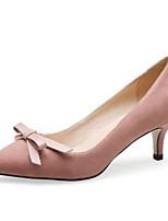 Недорогие -Жен. Обувь Замша Осень Туфли лодочки Обувь на каблуках На шпильке Черный / Розовый / Хаки