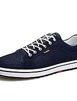 Недорогие -Муж. Сетка Осень Удобная обувь Кеды Черный / Серый / Синий