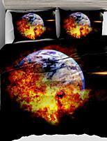 economico -Set Copripiumino 3D Poliestere Stampa 3 pezzi / 3 pezzi (1 copripiumino, 2 copriscuscini)