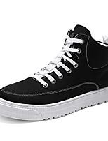 Недорогие -Муж. Комфортная обувь Полиуретан Осень На каждый день Кеды Нескользкий Черный / Серый / Красный
