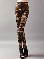 cheap -Latin Dance Leggings / Tights Women's Training / Performance Elastic / Charmeuse Pattern / Print High Pants