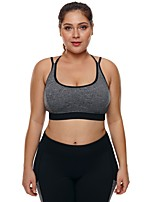 cheap -Women's Strappy / Seamless / Wirefree Bra Top - Gray Sports Solid Color Spandex Top Yoga, Running, Fitness Sleeveless Activewear Breathable, Freedom Stretchy Skinny, Slim