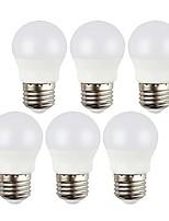 Недорогие -6шт 3 W 400 lm E26 / E27 Круглые LED лампы 6 Светодиодные бусины SMD 5050 Декоративная Тёплый белый / Холодный белый 220-240 V