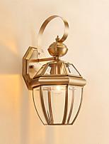 Недорогие -Водонепроницаемый Ретро Настенные светильники На открытом воздухе / Коридор Металл настенный светильник IP44 110-120Вольт / 220-240Вольт 40 W