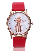 Недорогие -Жен. Нарядные часы Наручные часы Кварцевый Новый дизайн Повседневные часы PU Группа Аналоговый На каждый день Мода Черный / Белый / Красный - Красный Зеленый Розовый Один год Срок службы батареи