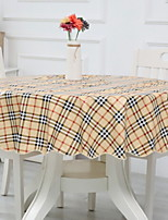 cheap -Contemporary Nonwoven Round Table Cloth Geometric Table Decorations 1 pcs