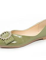 Недорогие -Жен. Полиуретан Лето Удобная обувь На плокой подошве На плоской подошве Бежевый / Красный / Зеленый
