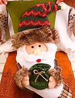 preiswerte -Strümpfe / Weihnachtsschmuck Urlaub Baumwollstoff Quadratisch Neuartige Weihnachtsdekoration