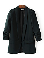 cheap -Women's Business Blazer-Solid Colored