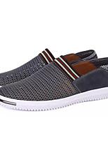 Недорогие -Муж. Сетка Лето Удобная обувь Мокасины и Свитер Темно-синий / Серый