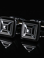 cheap -Geometric Black Cufflinks Copper / Alloy Simple / Basic Men's Costume Jewelry For Gift / Daily
