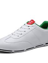 Недорогие -Муж. Полиуретан Осень Удобная обувь Кеды Красный / Черно-белый / Wit En Groen