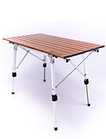 cheap -BEAR SYMBOL Camping Table Outdoor Anti-Slip, Folding Aluminium for Fishing / Camping Brown