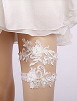cheap -Lace Wedding / Lace Wedding Garter With Faux Pearl Garters Wedding / Special Occasion