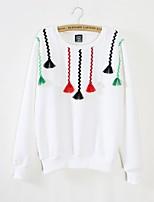 cheap -Women's Cotton Loose Sweatshirt - Floral