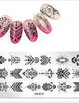 cheap -1 pcs Template Classic Theme / Creative nail art Manicure Pedicure Pattern / Casual / Daily Daily Wear