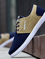 cheap -Men's Canvas Spring & Summer Comfort Sneakers Color Block Black / Yellow / Blue