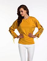 Недорогие -Жен. Футболка / Рубашка Классический Однотонный