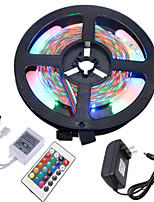 cheap -HKV 5m Flexible LED Light Strips / RGB Strip Lights 300 LEDs 3528 SMD RGB Cuttable / Linkable / Self-adhesive 12 V