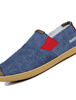 Недорогие -Муж. Полотно Осень Удобная обувь Мокасины и Свитер Контрастных цветов Темно-синий / Серый / Коричневый